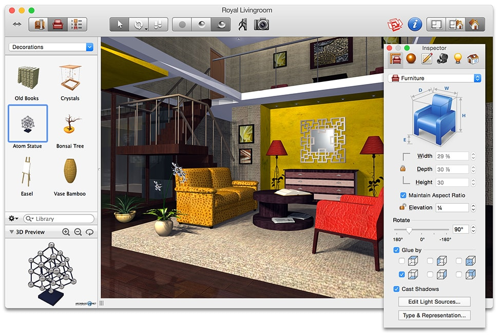 Live interior 3d home and interior design software for mac for 3d house maker
